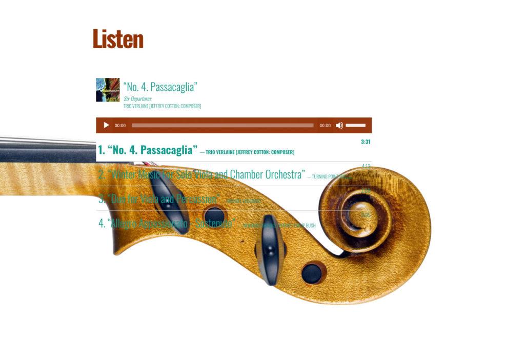 Musician Site Design